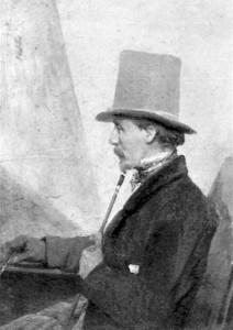 Domenico Induno in un ritratto