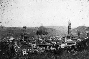 Firenze---Panorama-1860-Gabinetto-disegnie--Stampe-degli-Uffizi