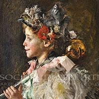 Antonio Mancini dipinti meridionali dell'800 vendita online