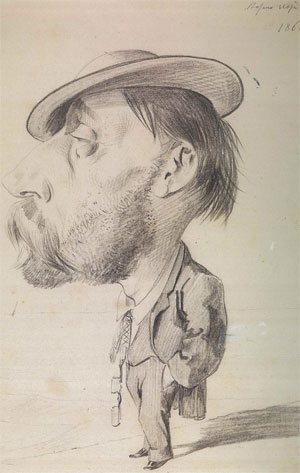 Stefano Ussi caricatura