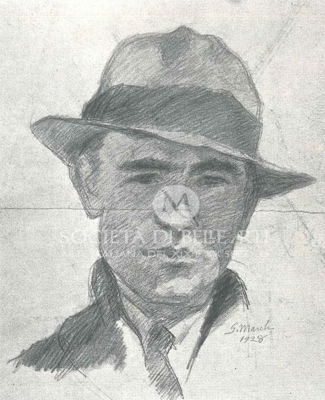 Il pittore postmacchiaiolo Giovanni March in autoritratto