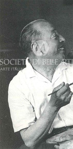 Il pittore Giovanni Lomi in foto