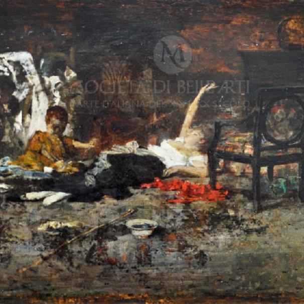 Giacomo Favretto dipinto in vetrina