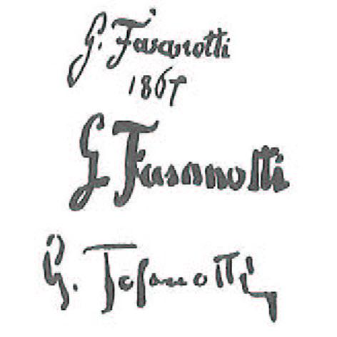 Firma autografa di Gaetano fasanotti