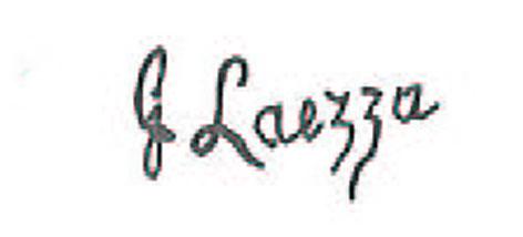 Firma autografa di Giuseppe Laezza