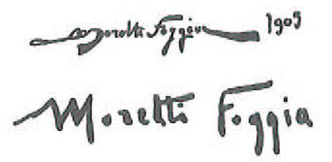 mario moretti foggia firma autografa