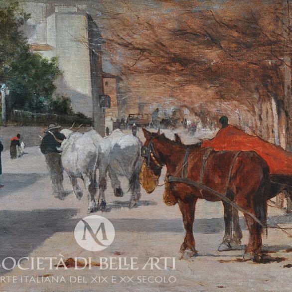 Giovanni Fattori dipinti macchiaioli in vendita
